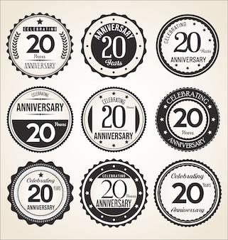 Collection de badge anniversaire