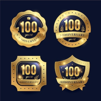 Collection de badge centenaire