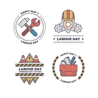 Collection de badge du jour du travail