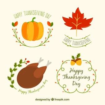 Collection de badge de thanksgiving