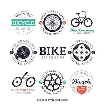 Collection de badge de vélo