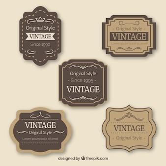 Collection de badge vintage