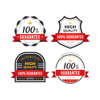 Collection de badges 100% garantie