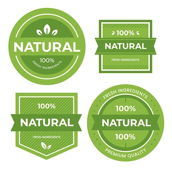 Collection de badges 100% naturels