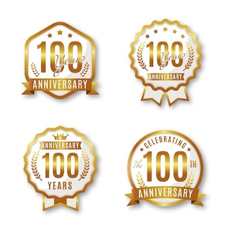 Collection de badges anniversaire one houndred
