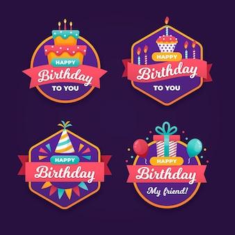 Collection de badges d'anniversaire pour enfants
