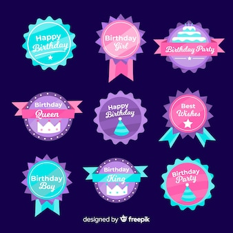 Collection de badges d'anniversaire