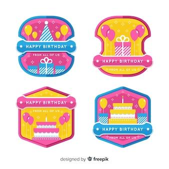 Collection de badges d'anniversaire