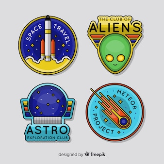 Collection de badges astronomiques