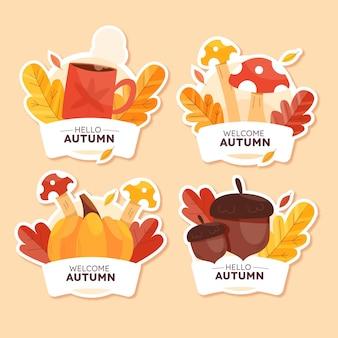 Collection de badges d'automne