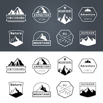 Collection de badges d'aventure