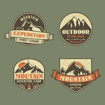 Collection de badges d'aventure
