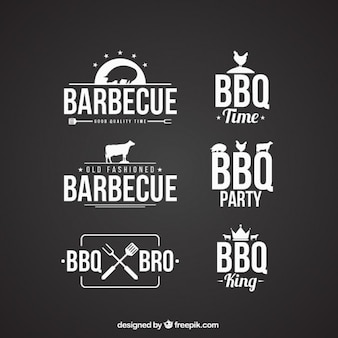 Collection de badges barbecue