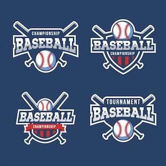Collection de badges de base-ball