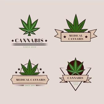 Collection de badges de cannabis médical