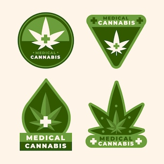 Collection de badges de cannabis médical