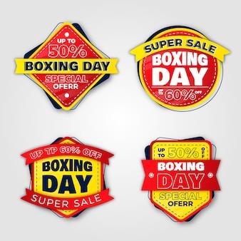 Collection de badges design plat boxing day sale