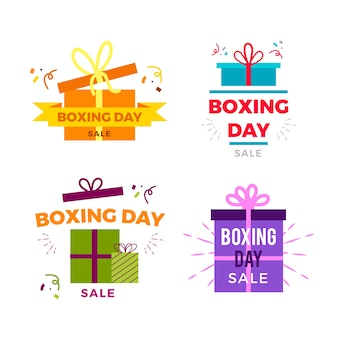 Collection de badges design plat boxing day sale