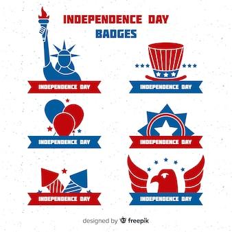 Collection de badges du 4 juillet
