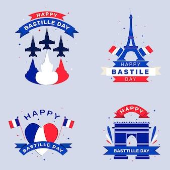 Collection de badges du jour de la bastille