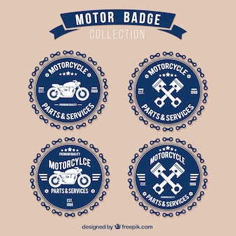 Collection de badges du moteur
