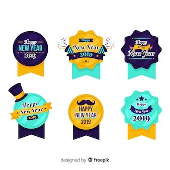 Collection de badges du nouvel an 2019