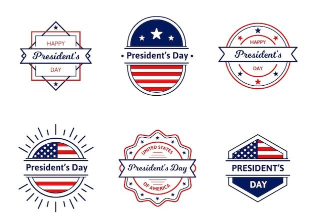 Collection de badges du président