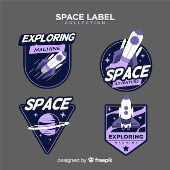 Collection de badges d'espace