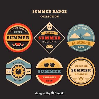 Collection de badges d'été