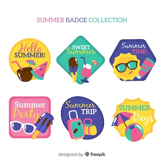 Collection de badges d'été