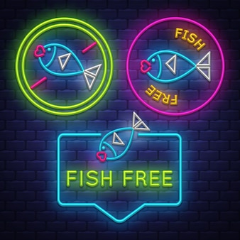 Collection de badges fish free