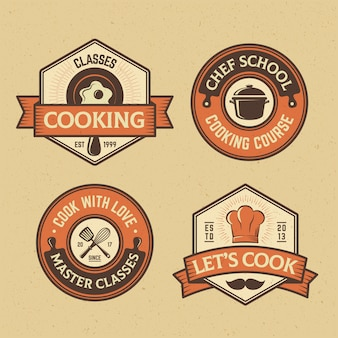 Collection de badges food and cook