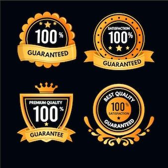 Collection de badges de garantie