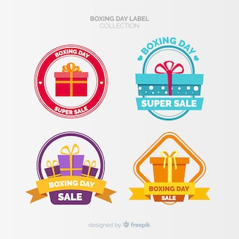 Collection de badges le jour de la boxe