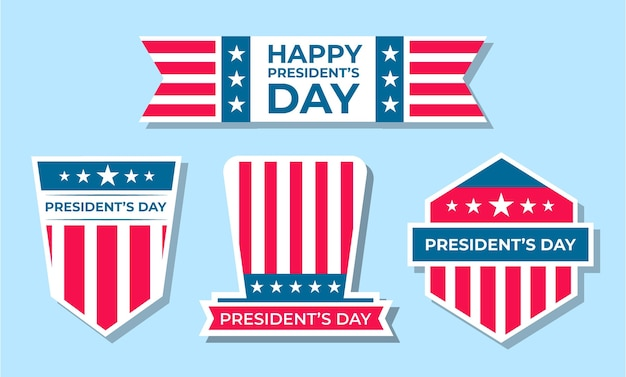 Collection de badges de la journée des présidents