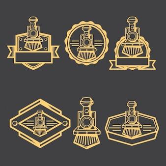 Collection de badges locomotive