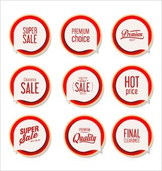 Collection de badges modernes colorés et étiquettes