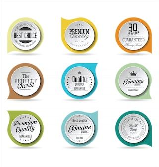 Collection de badges modernes