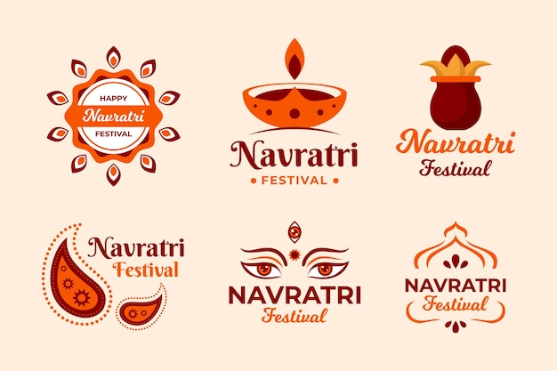 Collection de badges navratri
