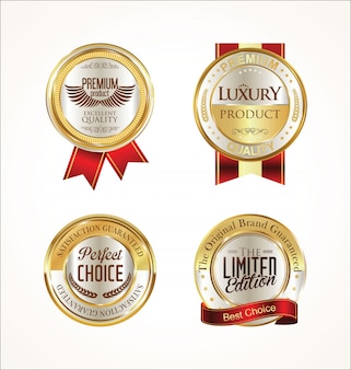 Collection de badges d'or