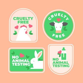 Collection de badges plats sans cruauté