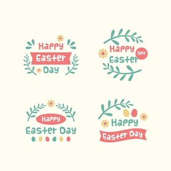 Collection de badges pour le jour de pâques