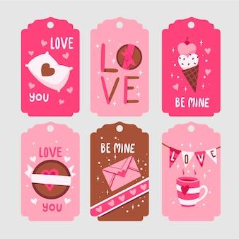Collection de badges pour la saint-valentin