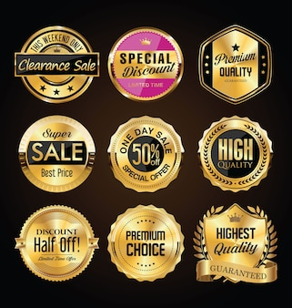 Collection de badges premium vintage