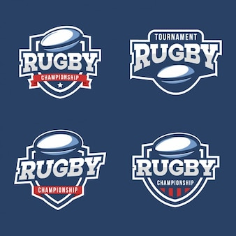 Collection de badges de rugby