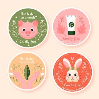 Collection de badges sans cruauté