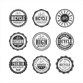 Collection de badges de service de magasin de vélos
