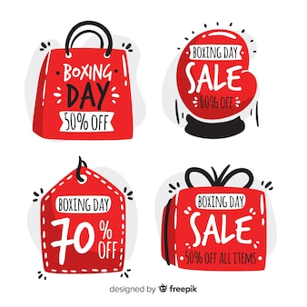 Collection de badges shape boxing day sale