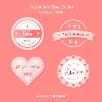 Collection de badges simples valentine