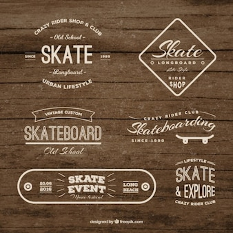 Collection de badges skate